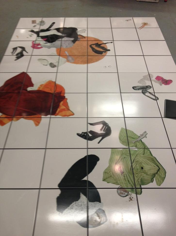 """Leslie Lyons + J.B.Wilson """"Bathroom Floor"""""""