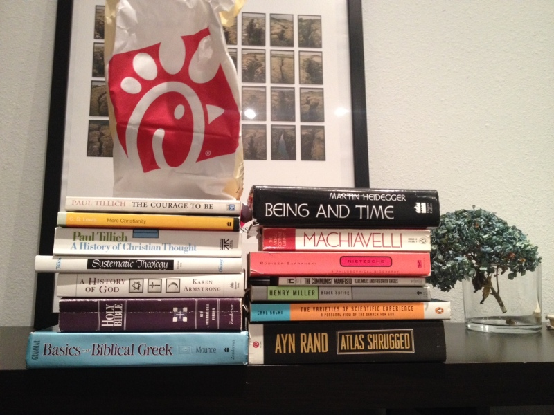Chick-Fil-A: The battle between the Christians and Pagans continues. My library demonstrates my own ambivalence