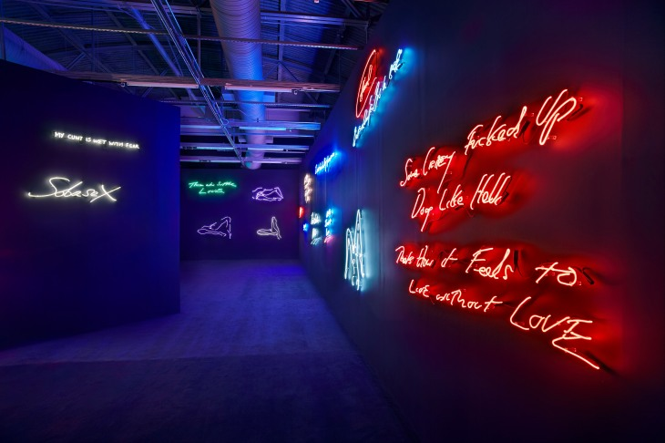 Tracey Emin exhibit at Moca
