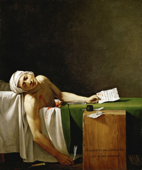 "Jacques Louis David ""Death of Marat"""