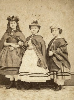Photo of white slave children used to raise funds for schools, 1864