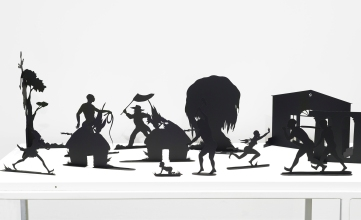Kara Walker: Burning African Village Play Set with Big House and Lynching